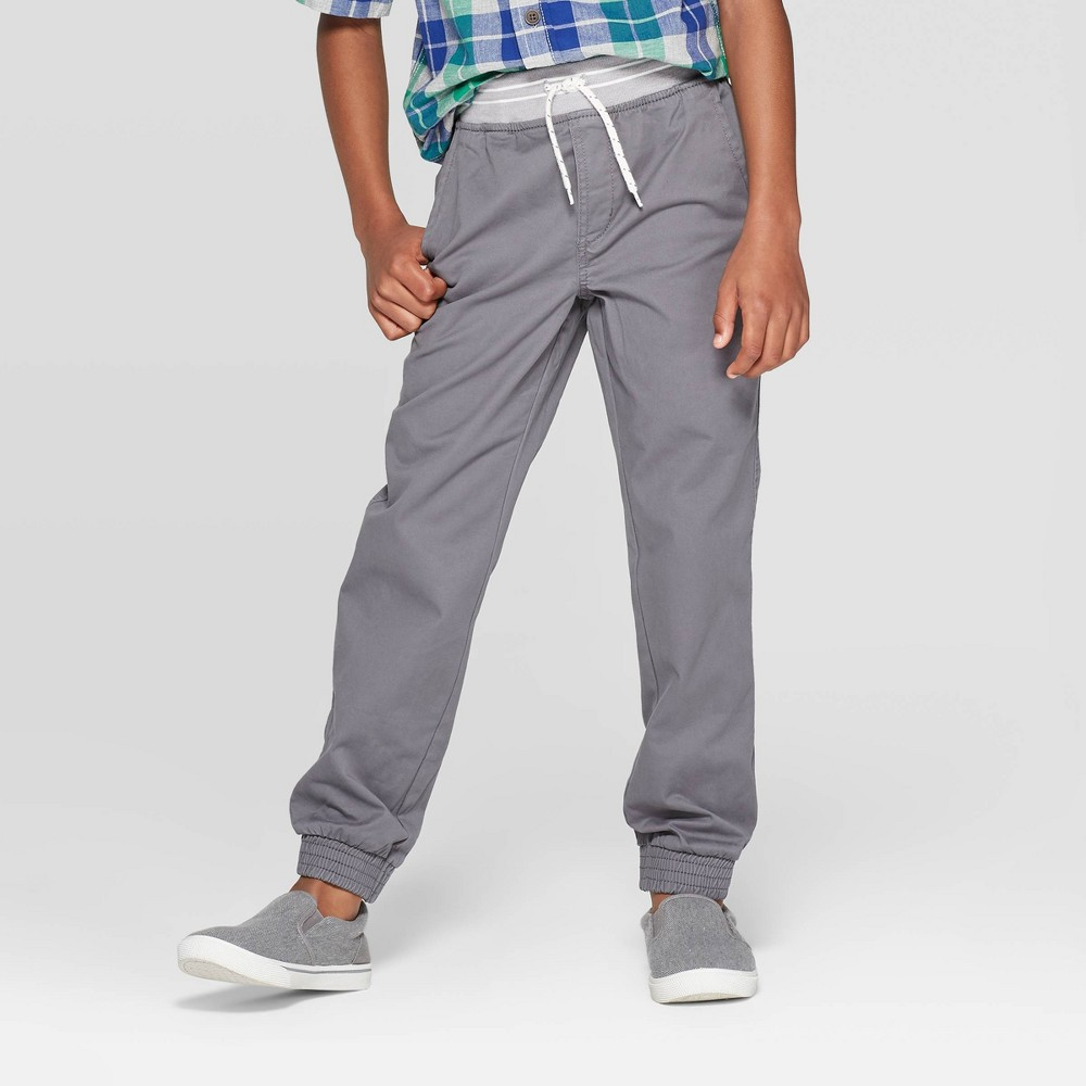 Boys 39 Stretch Pull On Fit Jogger Pants Cat 38 Jack 8482 Gray 12