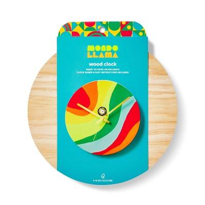 """9"""" Wood Clock Craft Kit - Mondo Llama™"""