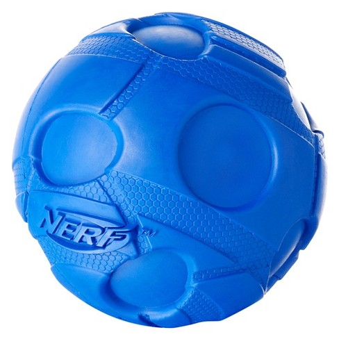 "NERF® Bash Squeak Crunch Ball Dog Toy - Blue - 3.8"" - image 1 of 2"