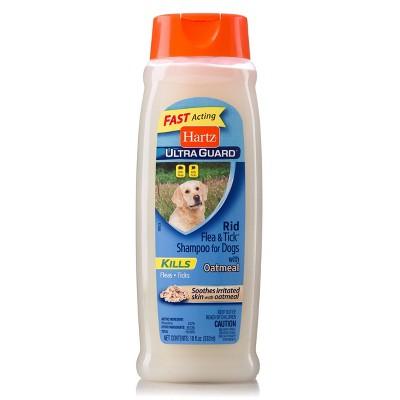 Hartz UltraGuard Rid Flea and Tick Shampoo for Dogs with Oatmeal - Rich Vanilla Fragrance - 18oz