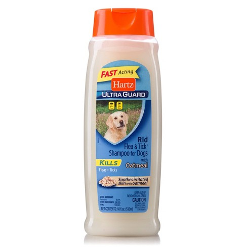 Hartz UltraGuard Rid Flea and Tick Shampoo for Dogs with Oatmeal - Rich Vanilla Fragrance - 18oz - image 1 of 3