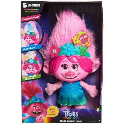 Trolls World Tour Color Poppin' Poppy Plush Fashion Doll