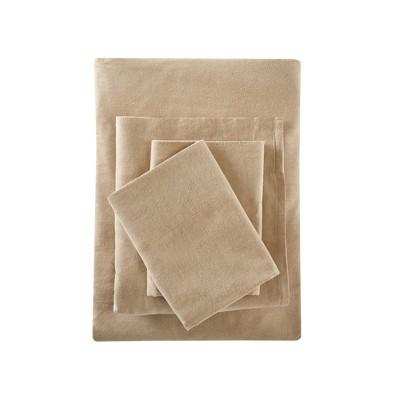 Solid Flannel Sheet Set (King)Tan