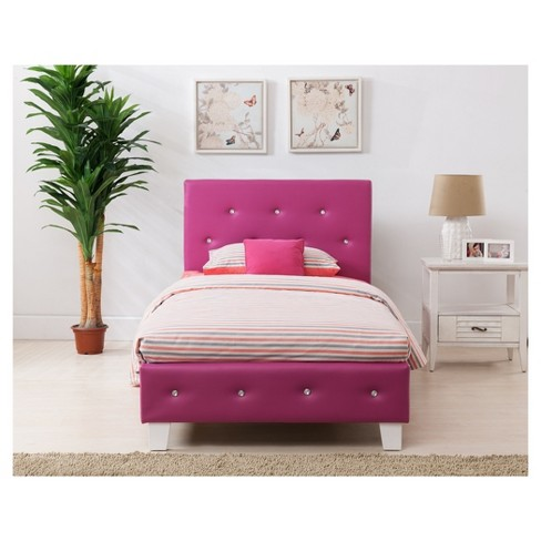 Kelsey Bed Headboard Set Pink - Boraam