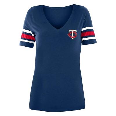 MLB Minnesota Twins Women's Pitch Count V-Neck T-Shirt
