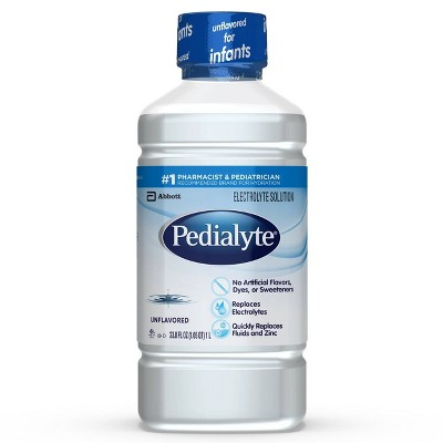 Pedialyte Electrolyte Solution Unflavored - 33.8 fl oz