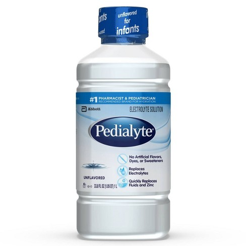 Pedialyte Electrolyte Solution Unflavored 33 8 Fl Oz Target