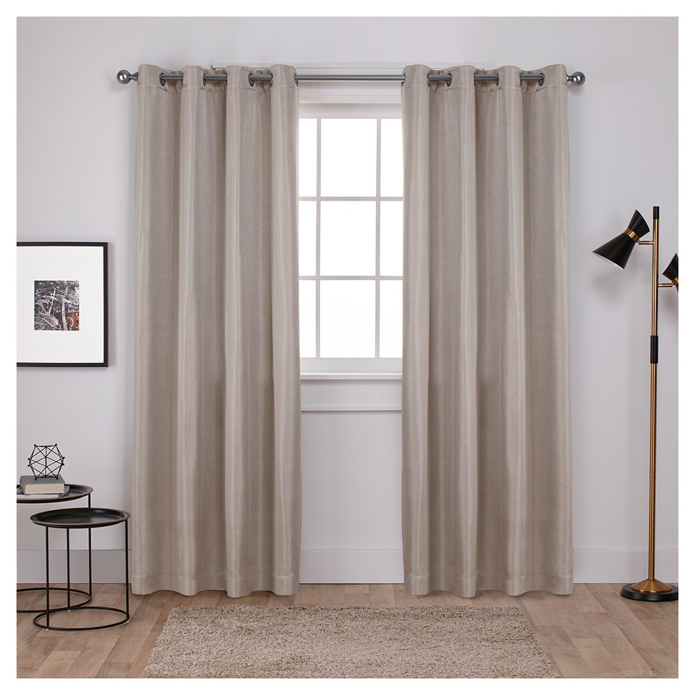 Carling Woven Blackout Curtain Panels Linen (52