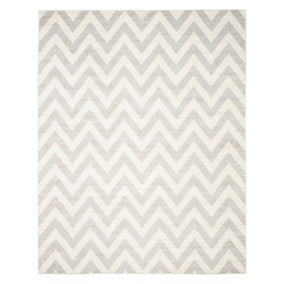 8'X10' Rectangle Outer Patio Rug Light Gray/Beige - Safavieh