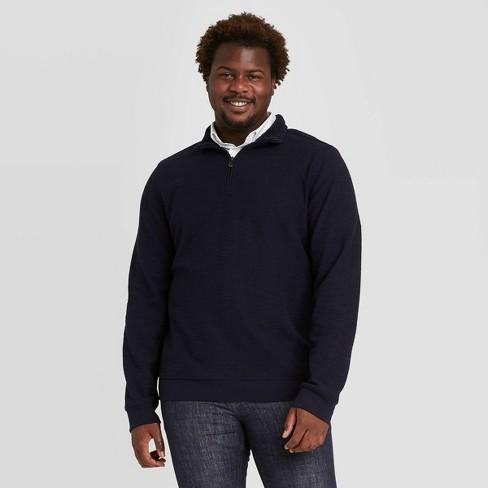 Men's Big & Tall Standard Fit 1/4th Zip Sherpa Knit Sweatshirt- Goodfellow & Co™ - image 1 of 3