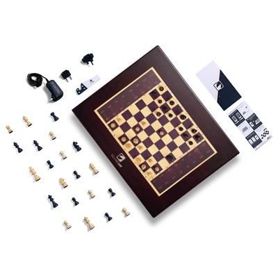 Square Off Grand Kingdom Chess Set Innovative AI Electric Chessboard Wooden Board Game Educational Skill/Strategy Game for All Ages, 34 Piece Set