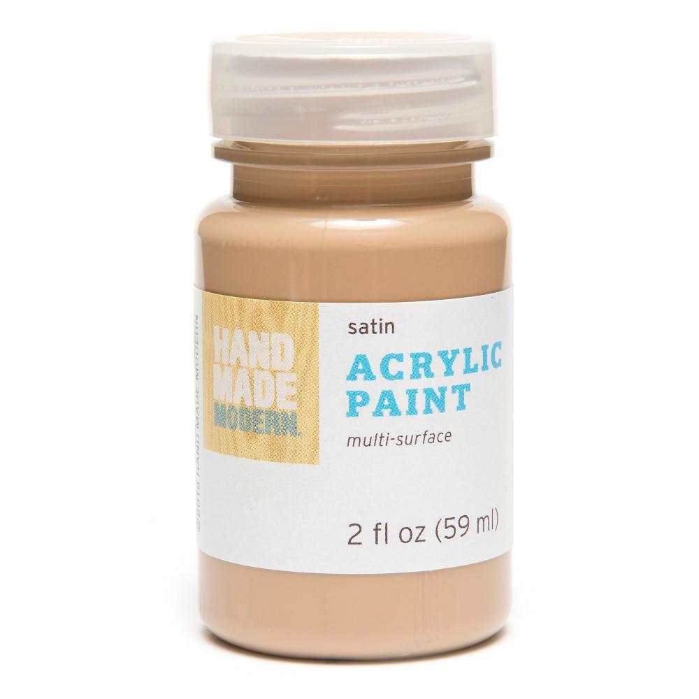 Image of 2oz Satin Acrylic Paint - Charcoal Hand Made Modern , Brown