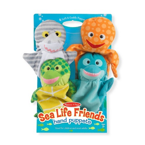 Melissa & Doug Sea Life Friends Hand Puppets - image 1 of 4