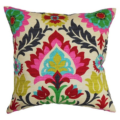 Boho Throw Pillow Pink (20 x20 )- The Pillow Collection