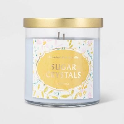 15.1oz Lidded Glass Jar 2-Wick Sugar Crystals Candle - Opalhouse™