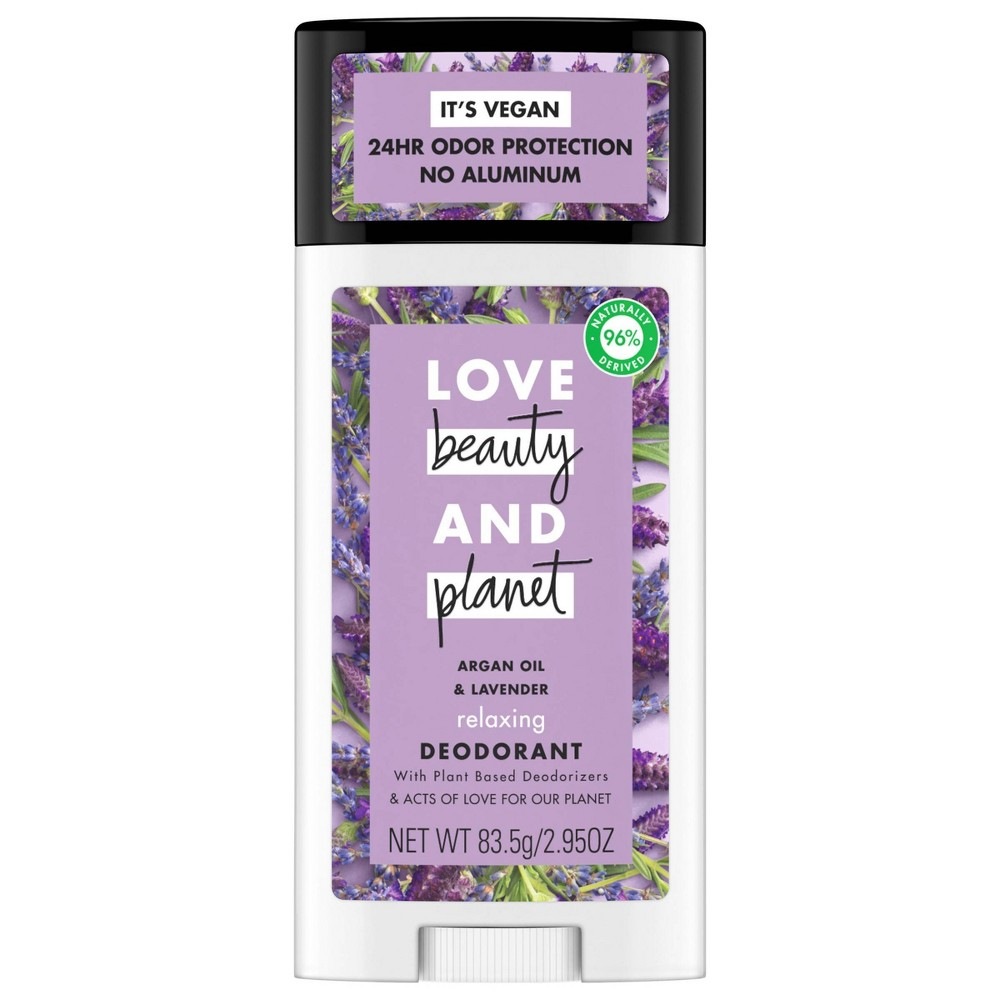 Love Beauty 38 Planet Aluminum Free Argan Oil 38 Lavender Relaxing Deodorant Stick 2 95oz