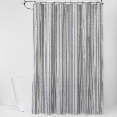 Herringbone Shower Curtain Bundle Gray - Room Essentials™