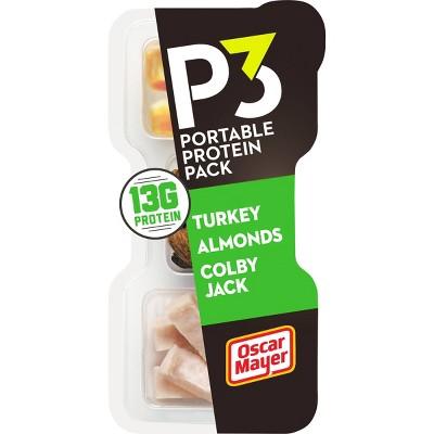 Oscar Mayer P3 Turkey Cheese Almonds - 2oz