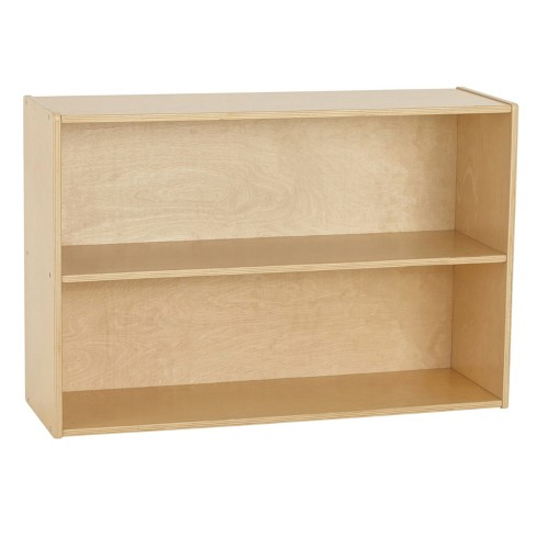 Birch Streamline 2-Shelf Storage Cabinet with Back - image 1 of 4