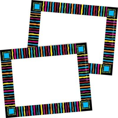 2pk 45ea Neon Stripes Remember Me! Self-Adhesive Name Tag Labels - Barker Creek