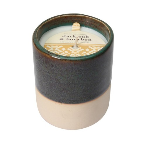8.5oz Glazed Ceramic Jar Candle Dark Oak & Bourbon - image 1 of 1