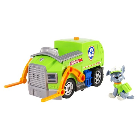 Paw Patrol Rocky's Lights and Sounds Recycling Truck Vehicle and Figure - image 1 of 5