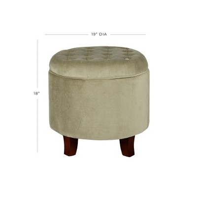Large Round Tufted Storage Ottoman   HomePop : Target