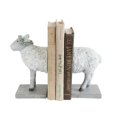 Resin Sheep Bookends Set of 2 - 3R Studios - image 1 of 2