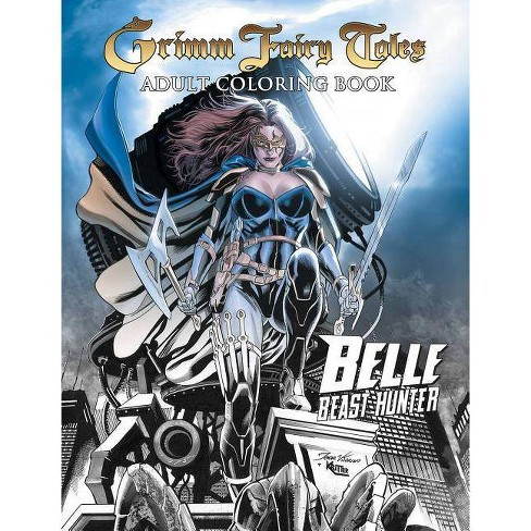 Grimm Fairy Tales Adult Coloring Book - by Dave Franchini (Paperback)