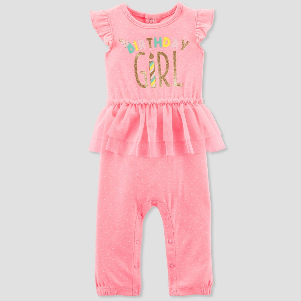 Baby Girls' Romper Tutu Set - Just One You made by carter's Pink 9M