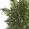 4ft Artificial Evergreen Plant in Round Wood Planter Brown - Nearly Natural - image 2 of 3
