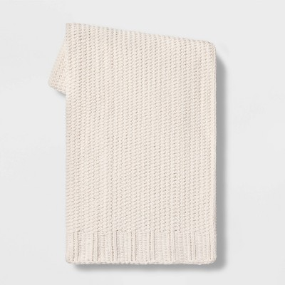 "50""x60"" Chenille Knit Throw Blanket - Threshold™"