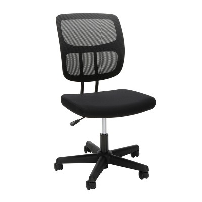 Adjustable Armless Mesh Office Chair Black - OFM