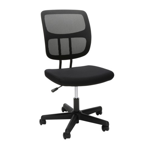new concept 67565 9dbe1 Adjustable Armless Mesh Office Chair Black - OFM