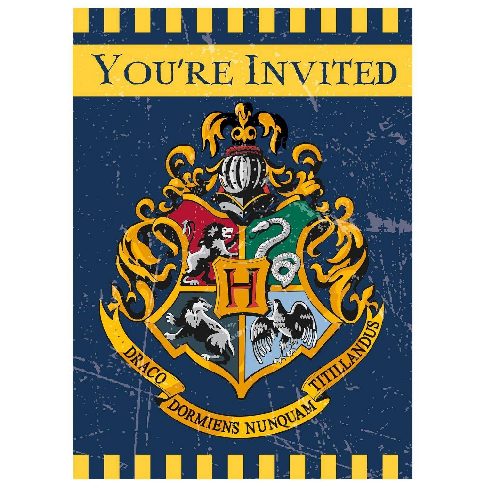 Image of Harry Potter 8ct Party Invites