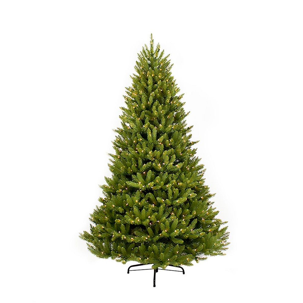 Image of 10ft Pre-lit Artificial Christmas Tree Full Forest Fir