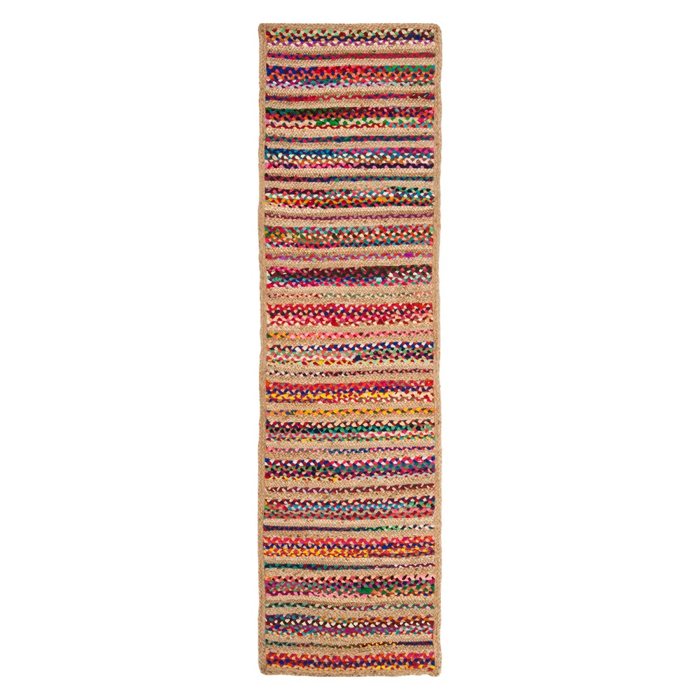 22X8 Stripe Woven Runner Natural - Safavieh Compare