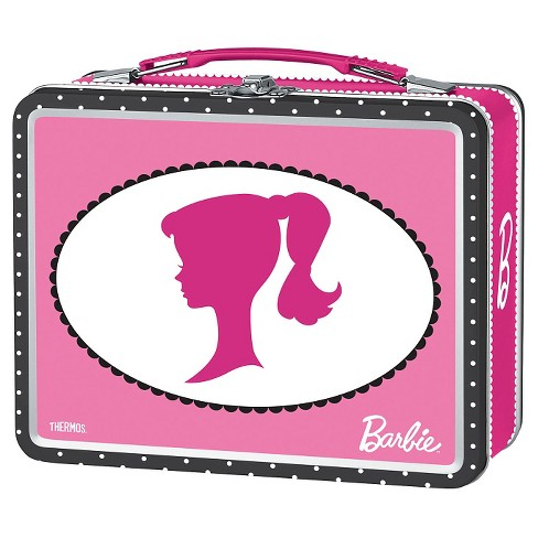 Thermos Metal Hard Sided Lunch Box - Barbie Pink - image 1 of 1