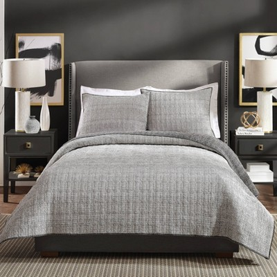 Ayesha Curry King Graphite Quilt Gray