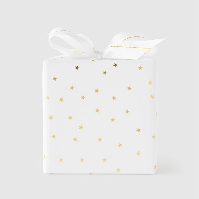 Gold Scattered Star Gift Wrap - Sugar Paper™