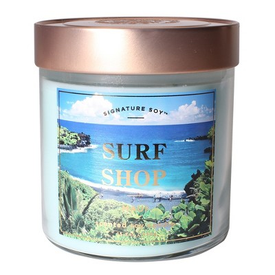 Small Glass Jar Candle Surf Shop 15.2oz - Signature Soy