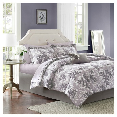 Gray Lark Printed Quilt Set - image 1 of 7