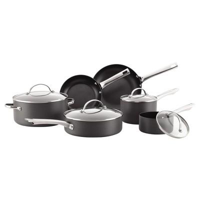 Farberware Hard-Anodized Aluminum Nonstick 14-Piece Cookware Set - Gray