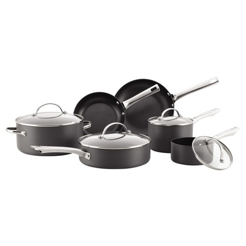 Farberware Hard-Anodized Aluminum Nonstick 14-Piece Cookware Set - Gray - image 1 of 7
