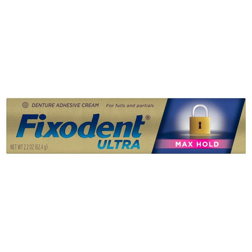 Image of Fixodent Ultra Max Hold Dental Adhesive Cream - 2.2oz