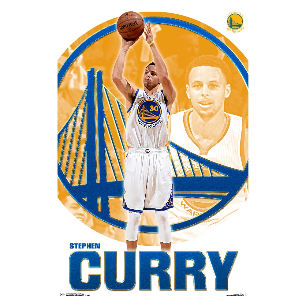 Golden State Warriors Stephen Curry Poster 34x22 - Trends International, Multi-Colored