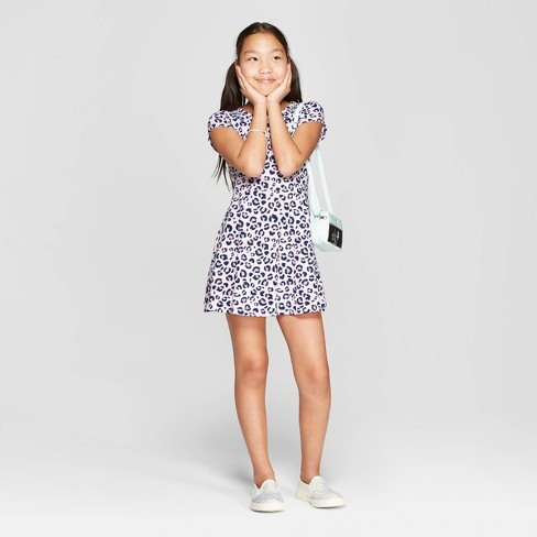 02744089f6ecc Girls' Animal Print A Line Dress - Cat & Jack™ Pink