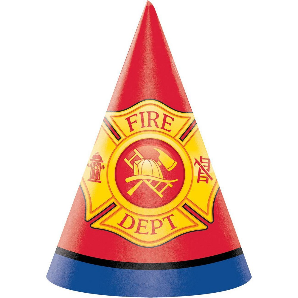 Image of 24ct Fire Truck Party Hats