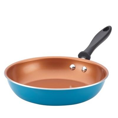 Farberware 10  Reliance Pro Copper Ceramic Open Skillet Aqua