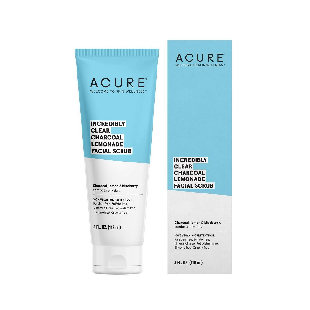 Image of Acure Incredibly Clear Charcoal Lemonade Facial Scrub - 4 fl oz